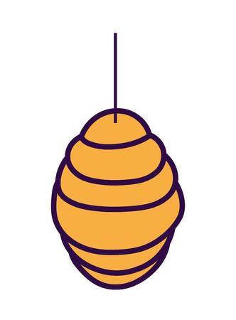 hanging honeycomb hive icon design vector illustration Ilustração