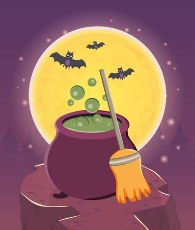 trick or treat - happy halloween Ilustração