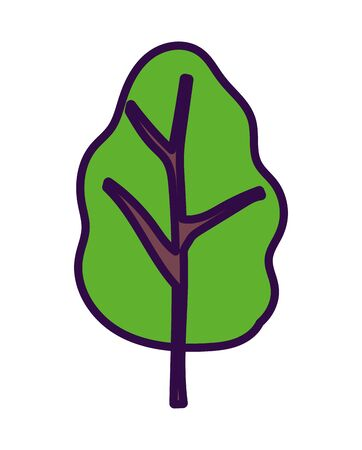 greenery tree foliage nature ecology icon vector illustration