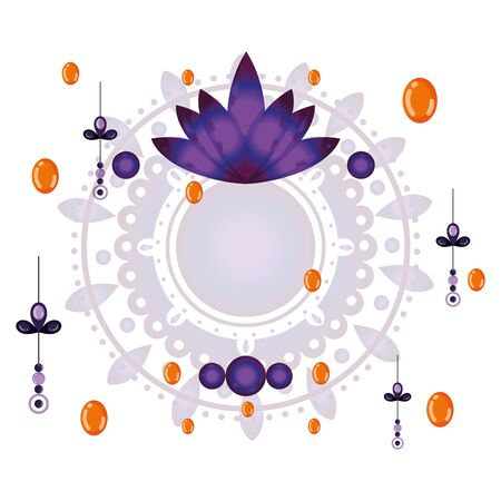 Amulet of bohemia concept vector design Ilustrace