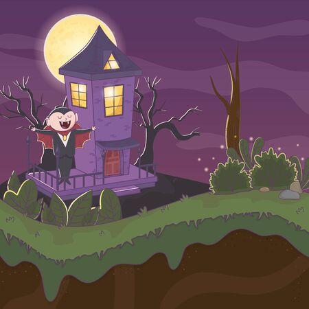 trick or treat - happy halloween Иллюстрация