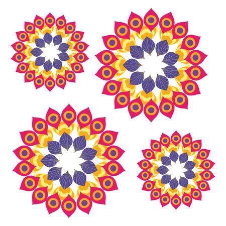 Mandalas of bohemia and ornament concept