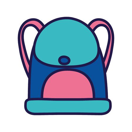 back to school education backpack accessory icon vector illustration  イラスト・ベクター素材