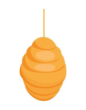 hanging honeycomb hive icon design