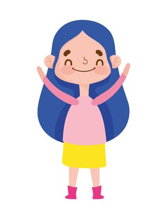cute girl expression emotion gesture cartoon