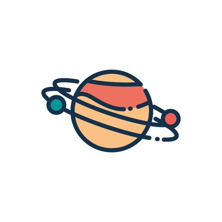 astronomy and space on white background vector illustration