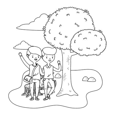 Teenage boys friends design vector illustrator Stock Illustratie