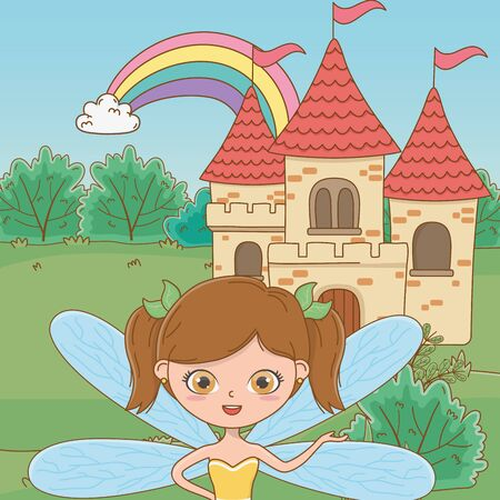 Fairy cartoon of fairytale design vector illustration Ilustração