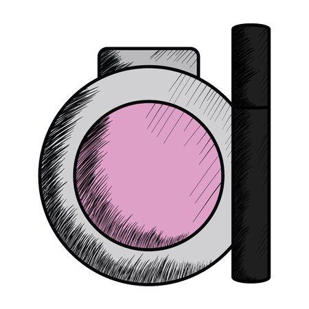 eyelash and blush make up drawing