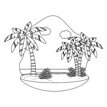 Palm tree of summer season design vector illustration  イラスト・ベクター素材