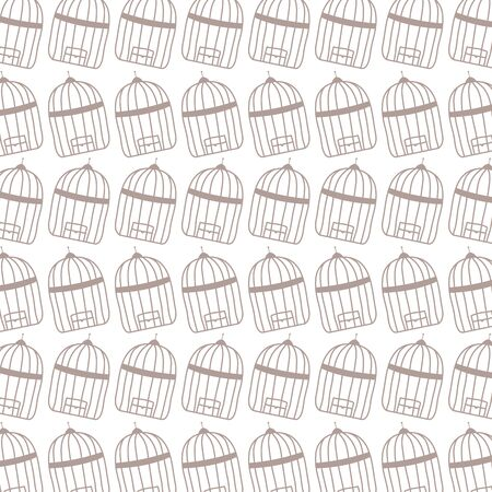 cages birds jails pattern background