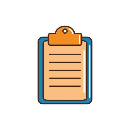 clipboard cargo delivery vector illustration line and fill  イラスト・ベクター素材