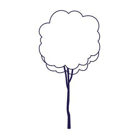 tree foliage forest vegetation botanical icon 일러스트