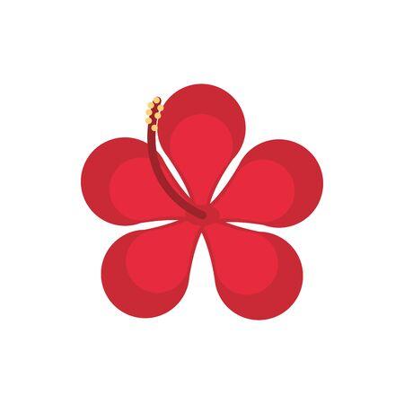 flower natural floral botanical icon Иллюстрация