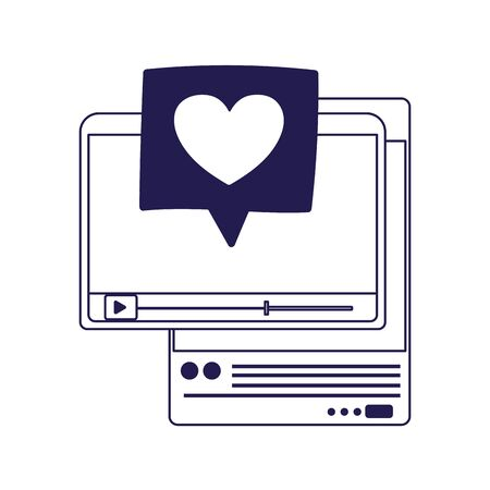 social media smartphone website video love heart message