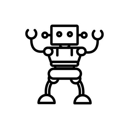robot cybernetic technology artificial machine linear design Illustration