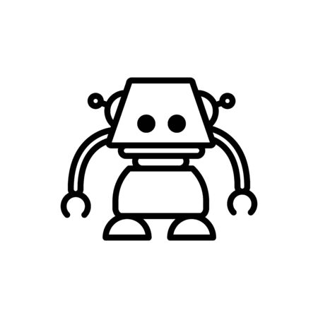 robot smart technology character artificial machine linear design