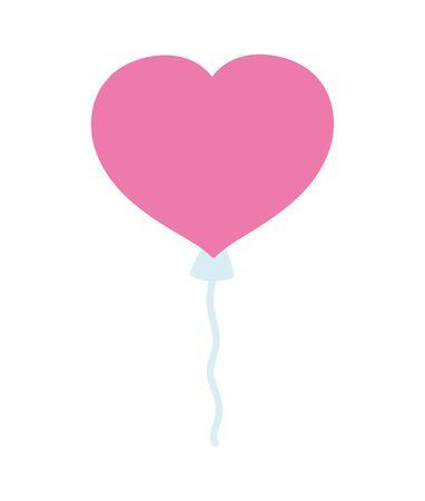 happy valentines day, cute balloon shaped heart celebration 写真素材 - 140678865
