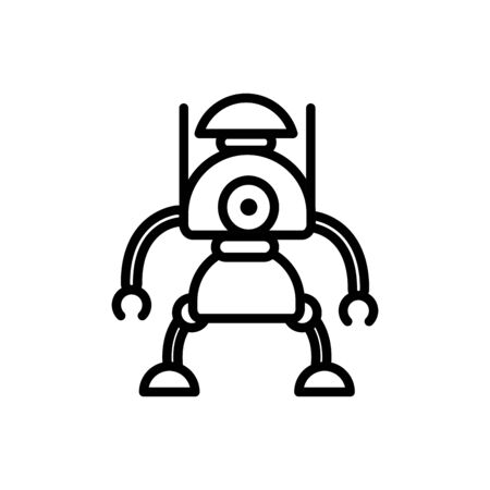 robot innovation character artificial machine linear design Illustration