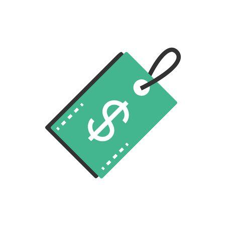 tag price market commerce money business finance vector illustration  イラスト・ベクター素材