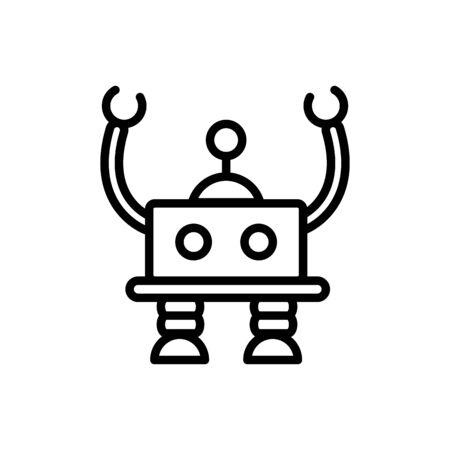 robot intelligence mechanism character artificial linear design Illustration