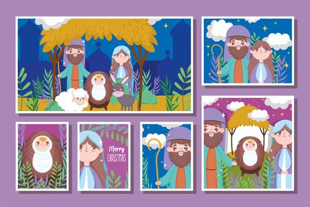 nativity happy merry christmas cards