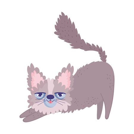 disheveled cat cartoon feline character pets Banco de Imagens - 140025031