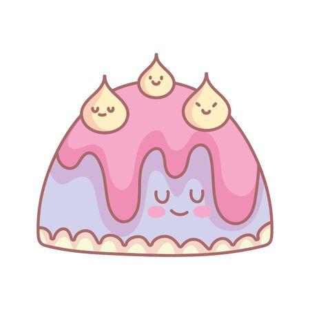 sweet jelly menu restaurant cartoon food cute vector illustration