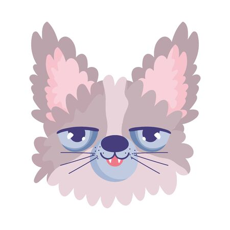 disheveled cat face cartoon character pets Banco de Imagens - 140031946