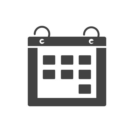 office calendar reminder meeting date supply silhouette on white background