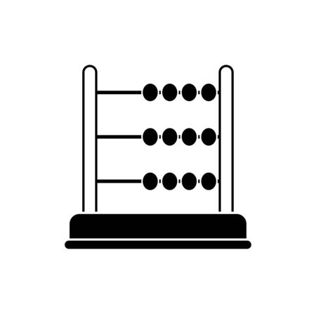 money business financial arithmetic account abacus line style icon vector illustration