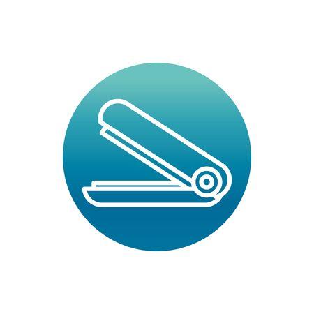 office stapler equipment stationery supply vector illustration block gradient style icon Standard-Bild - 140166559