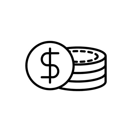 stacked coins currency business cash money line design vector illustration Zdjęcie Seryjne - 140205454