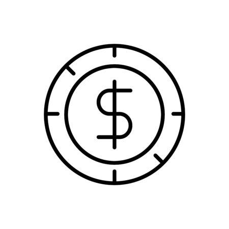 coin currency business cash money line design vector illustration Ilustracja