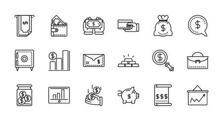 business cash money line design vector illustration Stock Illustratie