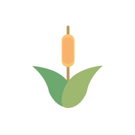 flower spike foliage natural floral botanical icon