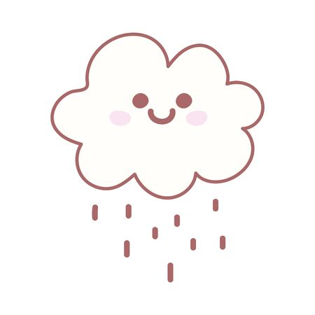 cloud rain weather cartoon cute