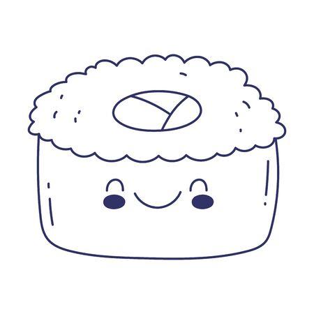 sushi menu restaurant cartoon food cute line style