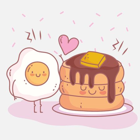 pancakes butter syrup and fried egg menu restaurant food cute