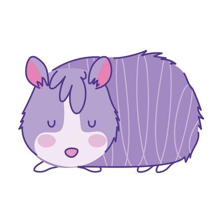 hamster animal cartoon doodle color on white background vector illustration