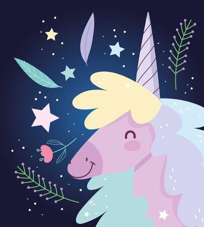 unicorn flowers love fantasy magic cute cartoon