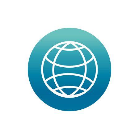 office world international work vector illustration block gradient style icon Ilustrace