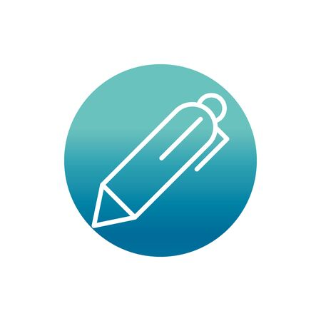 office pen stationery supply vector illustration block gradient style icon