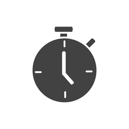 office stopwatch timer clock supply vector illustration silhouette on white background Ilustrace
