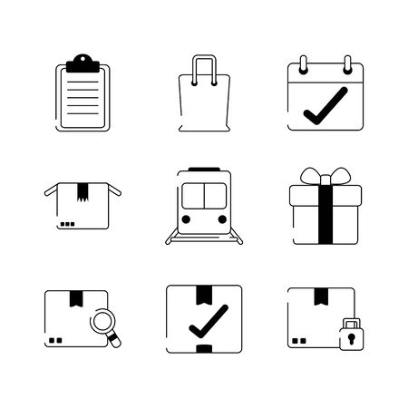 envelope mail letter security padlock unlock vector illustration line style icon