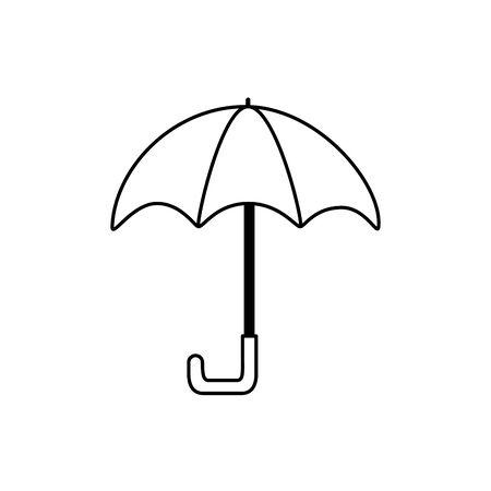 umbrella protection accessory icon line style icon vector illustration