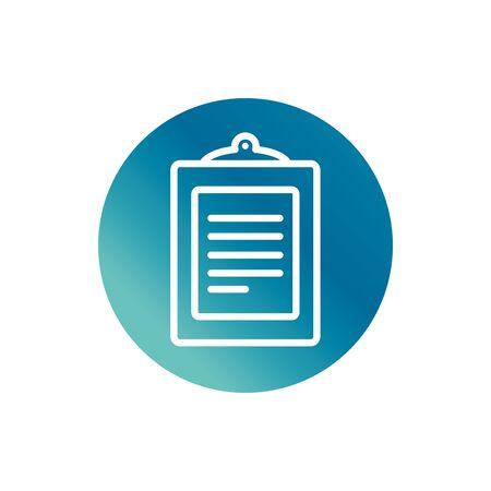 office clipboard report document stationery supply block gradient style icon Ilustração