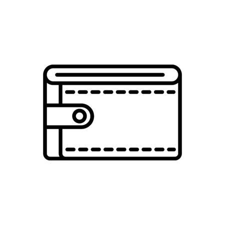 wallet business cash money line design vector illustration