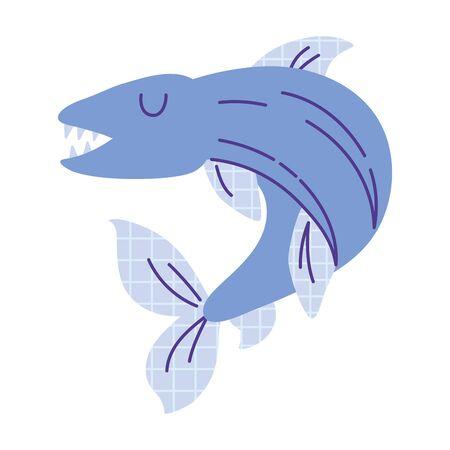 electric eel animal cartoon doodle color vector illustration
