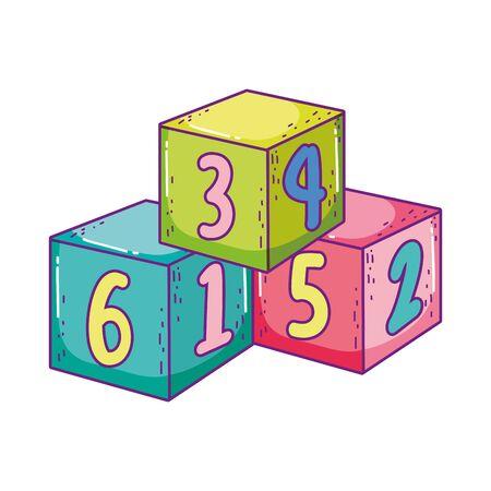 toys pile cube blocks building cartoon